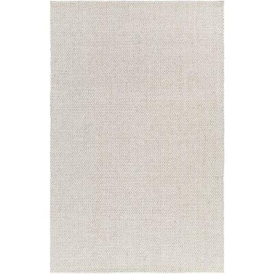 Haysville Hand-Woven Light Gray Area Rug Rug size: 5 x 8