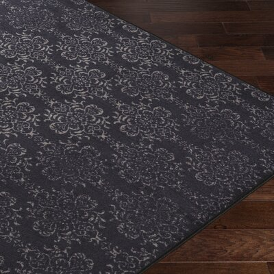 Huntingdon Black/Gray Area Rug Rug Size: 5 x 8