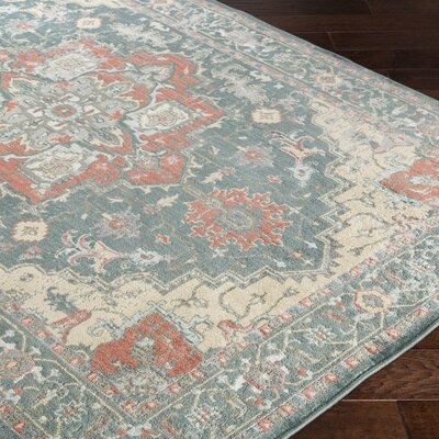 Sommerfield Green/Beige Area Rug Rug Size: Rectangle 110 x 211