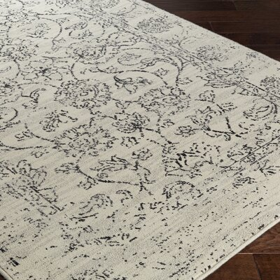Hyde Park Cream/Black Area Rug Rug Size: 710 x 910