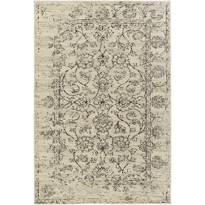 Hyde Park Cream/Black Area Rug Rug Size: 53 x 73