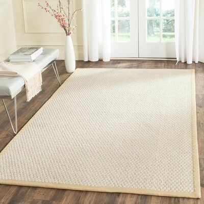 Hydetown Hand-Woven Sand Area Rug Rug Size: Rectangle 8 x 10