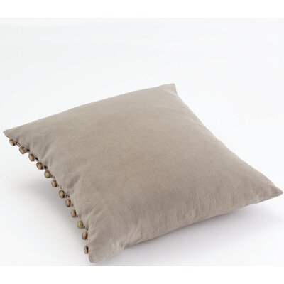 Gwinnett Button Cotton Throw Pillow Color: Bark