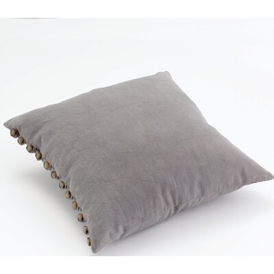 Gwinnett Button Cotton Throw Pillow Color: Himmelblau