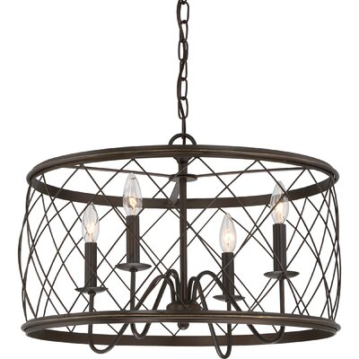 Gabriel 4-Light Drum Pendant Size: 14.5 H x 21 W x 21 D