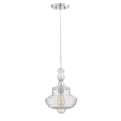Hadrien 1-Light Mini Pendant Size: 13.5 H x 10 W x 10 D