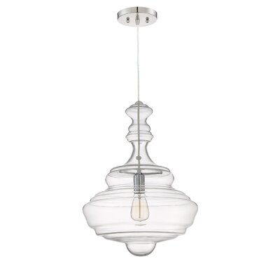 Hadrien 1-Light Mini Pendant Size: 21.5 H x 15.75 W x 15.75 D