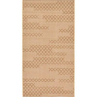Hunter Tan Indoor/Outdoor Area Rug Rug Size: 4 x 57