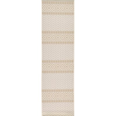 Hysham Beige Indoor/Outdoor Area Rug Rug Size: Runner 24 x 82