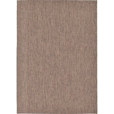 Iberide Brown Indoor/Outdoor Area Rug Rug Size: 8 x 114