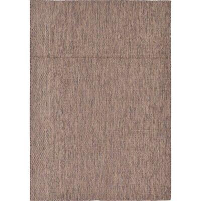 Iberide Brown Indoor/Outdoor Area Rug Rug Size: 7' x 10'