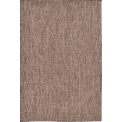 Iberide Brown Indoor/Outdoor Area Rug Rug Size: 6' x 9'
