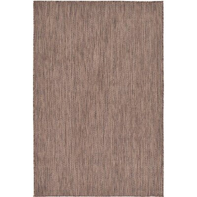 Iberide Brown Indoor/Outdoor Area Rug Rug Size: 4' x 6'