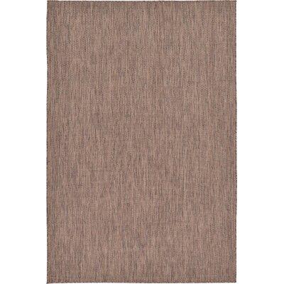 Iberide Brown Indoor/Outdoor Area Rug Rug Size: 5' x 8'
