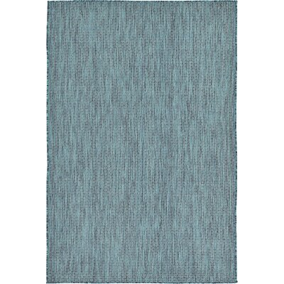 Ida Teal Area Rug Rug Size: 8' x 11'4