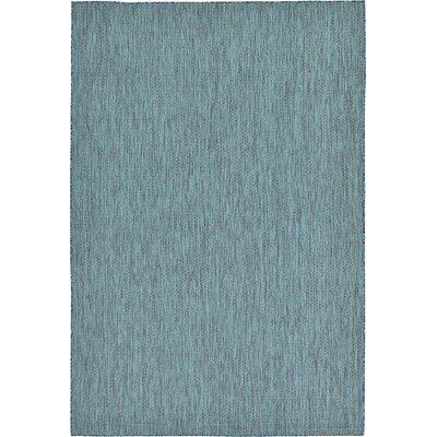 Ida Teal Area Rug Rug Size: 7' x 10'