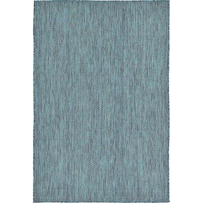 Ida Teal Area Rug Rug Size: 6' x 9'