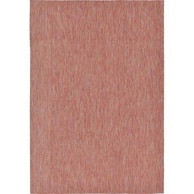Idaho Falls Rust Red Area Rug Rug Size: 7 x 10