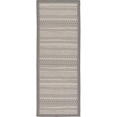 Iva Gray Area Rug Rug Size: Runner 22 x 6