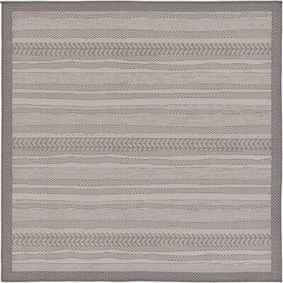 Iva Gray Area Rug Rug Size: Square 6