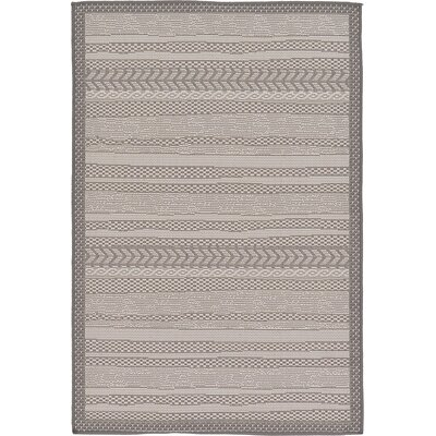 Iva Gray Area Rug Rug Size: 33 x 5