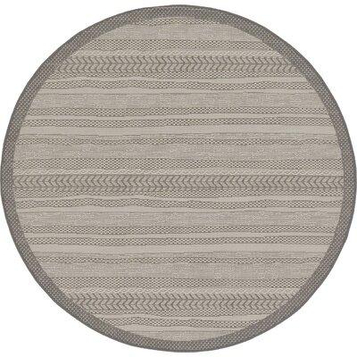 Iva Gray Area Rug Rug Size: Round 6