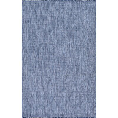 Ivie Blue Indoor/Outdoor Area Rug Rug Size: 5 x 8