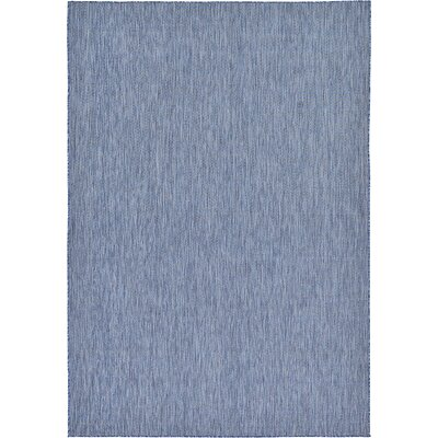 Janet Blue Indoor/Outdoor Area Rug Rug Size: Rectangle 5 x 8