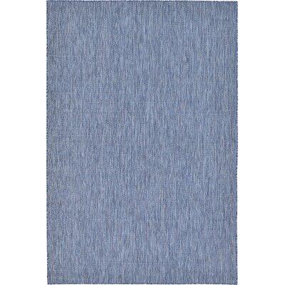 Ivie Blue Indoor/Outdoor Area Rug Rug Size: 6 x 9