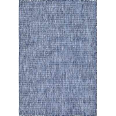 Ivie Blue Indoor/Outdoor Area Rug Rug Size: Runner 2 x 6