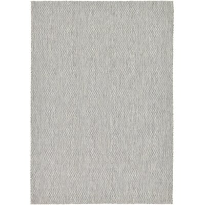 Jacklyn Light Gray Indoor/Outdoor Area Rug Rug Size: 7 x 10