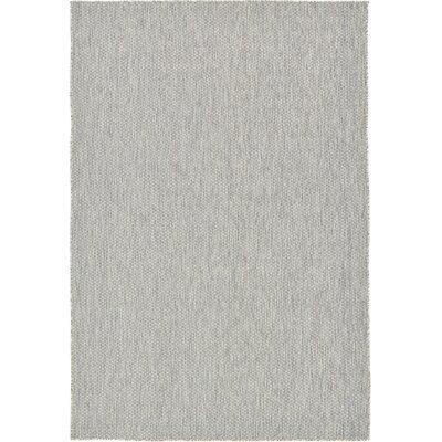 Jacklyn Light Gray Indoor/Outdoor Area Rug Rug Size: 6 x 9