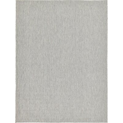 Jacklyn Light Gray Indoor/Outdoor Area Rug Rug Size: 9 x 12
