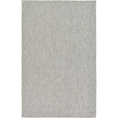 Jacklyn Light Gray Indoor/Outdoor Area Rug Rug Size: 5 x 8
