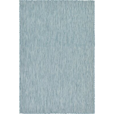 Janet Aquamarine Indoor/Outdoor Area Rug Rug Size: 4 x 6