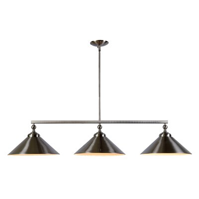 Debra 3-Light Kitchen Island Pendant Finish: Brushed Steel