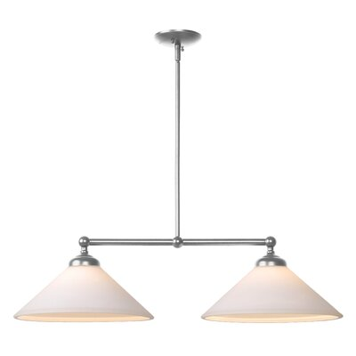 Otesha 2-Light Kitchen Island Pendant Finish: Brushed Steel