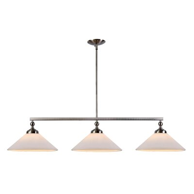 Otesha 3-Light Kitchen Island Pendant Finish: Brushed Steel