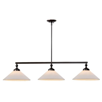 Otesha 3-Light Kitchen Island Pendant Finish: Oil Rubbed Bronze