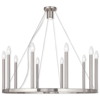 Odette 10-Light Kitchen Island Pendant Finish: Brushed Nickel