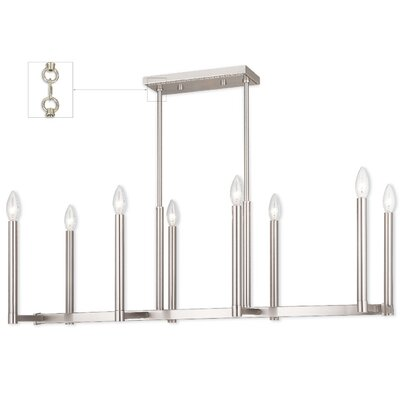 Odette 8-Light Kitchen Island Pendant Finish: Brushed Nickel