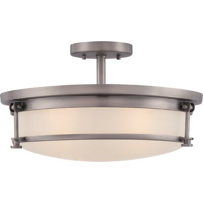 Stuti 4-Light Semi Flush Mount Finish: Antique Nickel