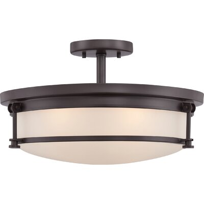 Stuti 4-Light Semi Flush Mount Finish: Western Bronze
