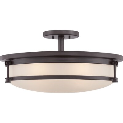 Stuti 5-Light Semi Flush Mount Finish: Western Bronze