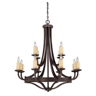 Britt 12-Light Candle-Style Chandelier