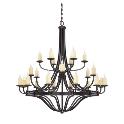 Britt 24-Light Candle-Style Chandelier
