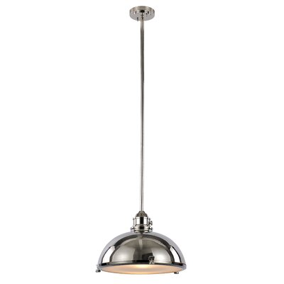 Dewey 1-Light Bowl Pendant Finish: Polished Nickel