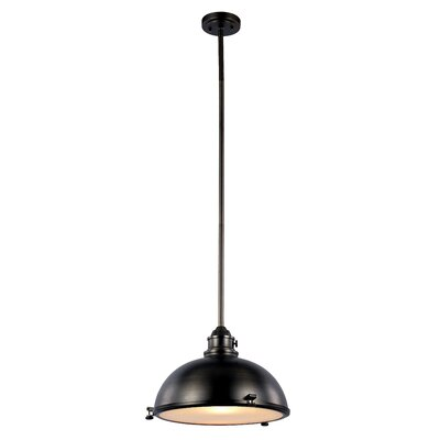 Dewey 1-Light Bowl Pendant Finish: Weathered Bronze