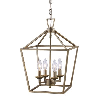 Carmen 4-Light Pendant Finish: Polished Chrome/Black