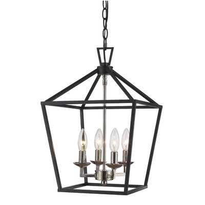 Carmen 4-Light Pendant Finish: Black Brushed Nickel